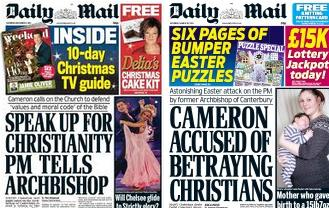 Daily Mail Archbishop PM